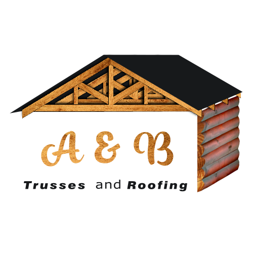 A & B Trusses and Roofing Logo White Shadow 500px